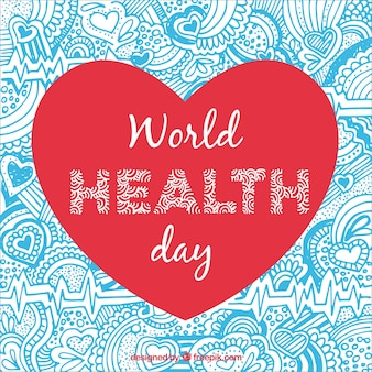 Health day heart ornamental background