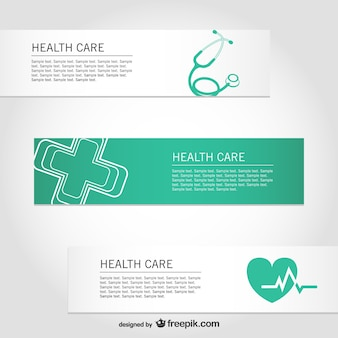 Healthcare free vector banners