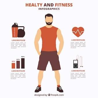 Healthy and fitness infography