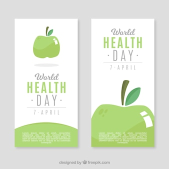 Healthy apple banners