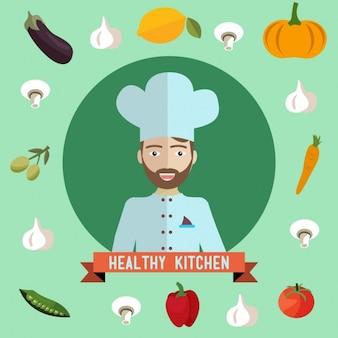 Healthy food background design