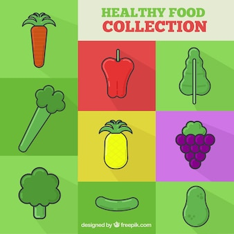 Healthy food collection