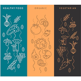 Healthy food elements collection