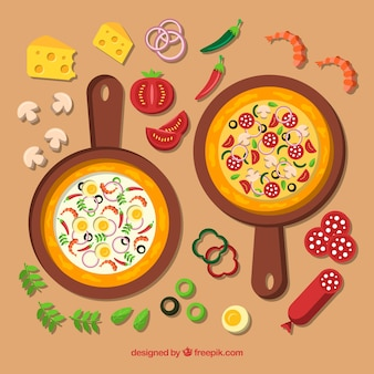 Healthy pizza background