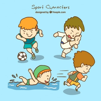 Healthy sport characters