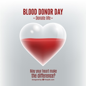 Heart background and blood donation