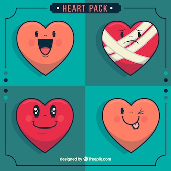 Heart characters pack