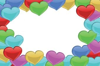 Heart-designed border