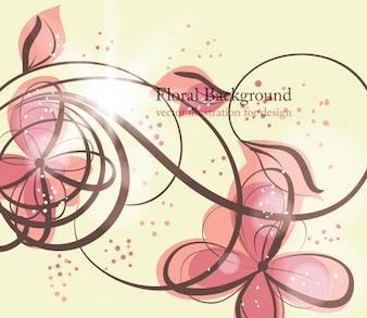 Heart flower floral romantic swirls