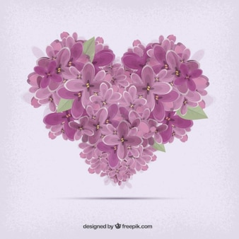 Heart flowers shaped