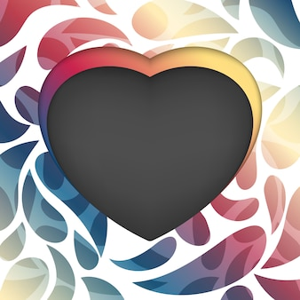 Heart frame on an abstract background