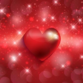 Heart on a shiny background