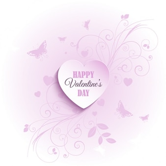 Heart pink background with ornaments