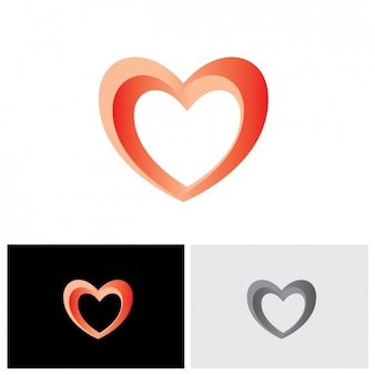 Heart shape logo design