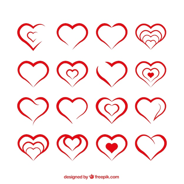 Heart Shape Vectors, Photos and PSD files | Free Download