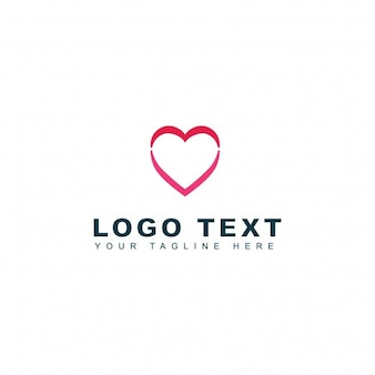 Heart wedding logo template