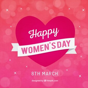 Heart women's day background