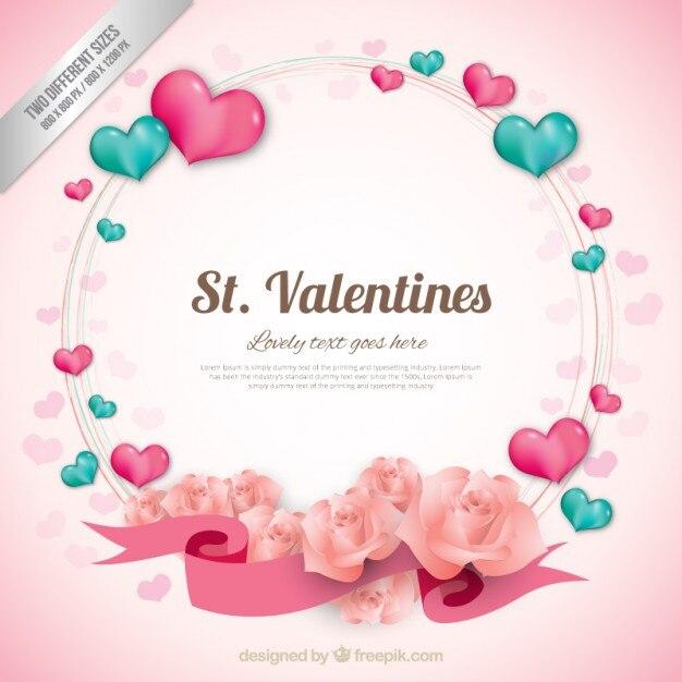 Valentine's hearts Vector | Free Download