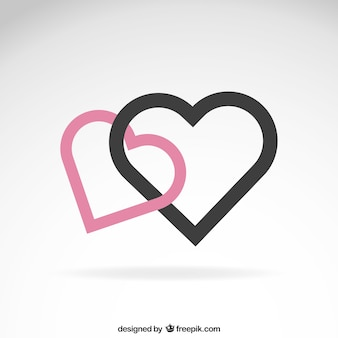 Hearts in minimalist design
