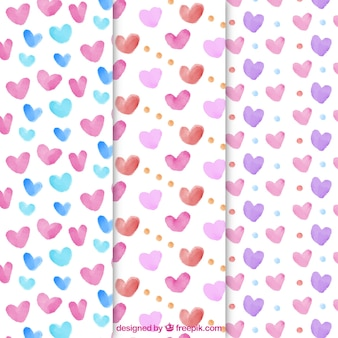Hearts pattern collection