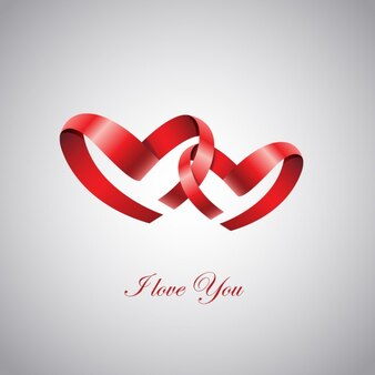 Hearts ribbon background