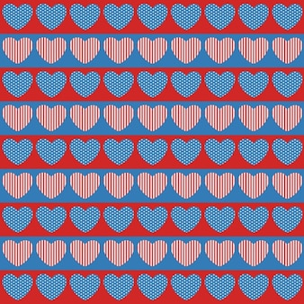 Hearts shapes independence day background