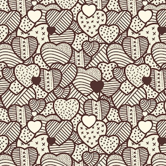 Hearts vintage pattern