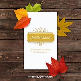 Hello autumn, elegant card
