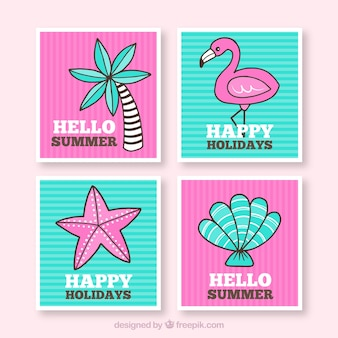 Hello summer cards collection