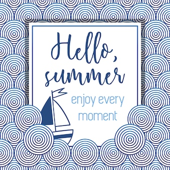 Hello summer pattern background