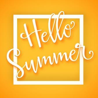 Hello summer typographic design