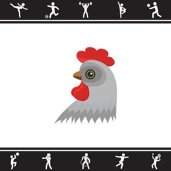 鶏。ベクトルイラスト