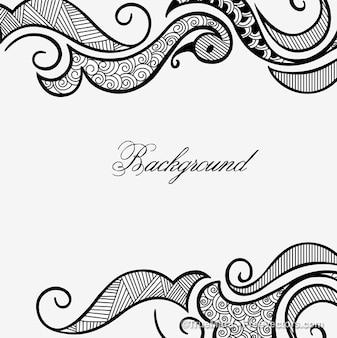 Henna design frame white backgraund