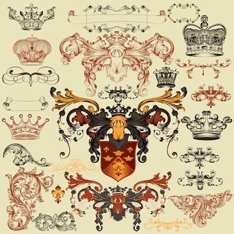 Heraldic elements collection