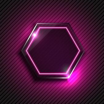 Hexagon with light design