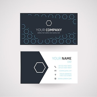 Hexagonal business card