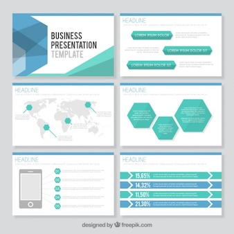 Hexagonal business presentation template