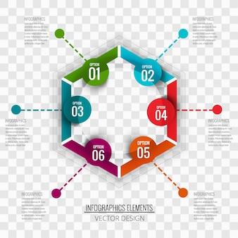 Hexagonal infographics
