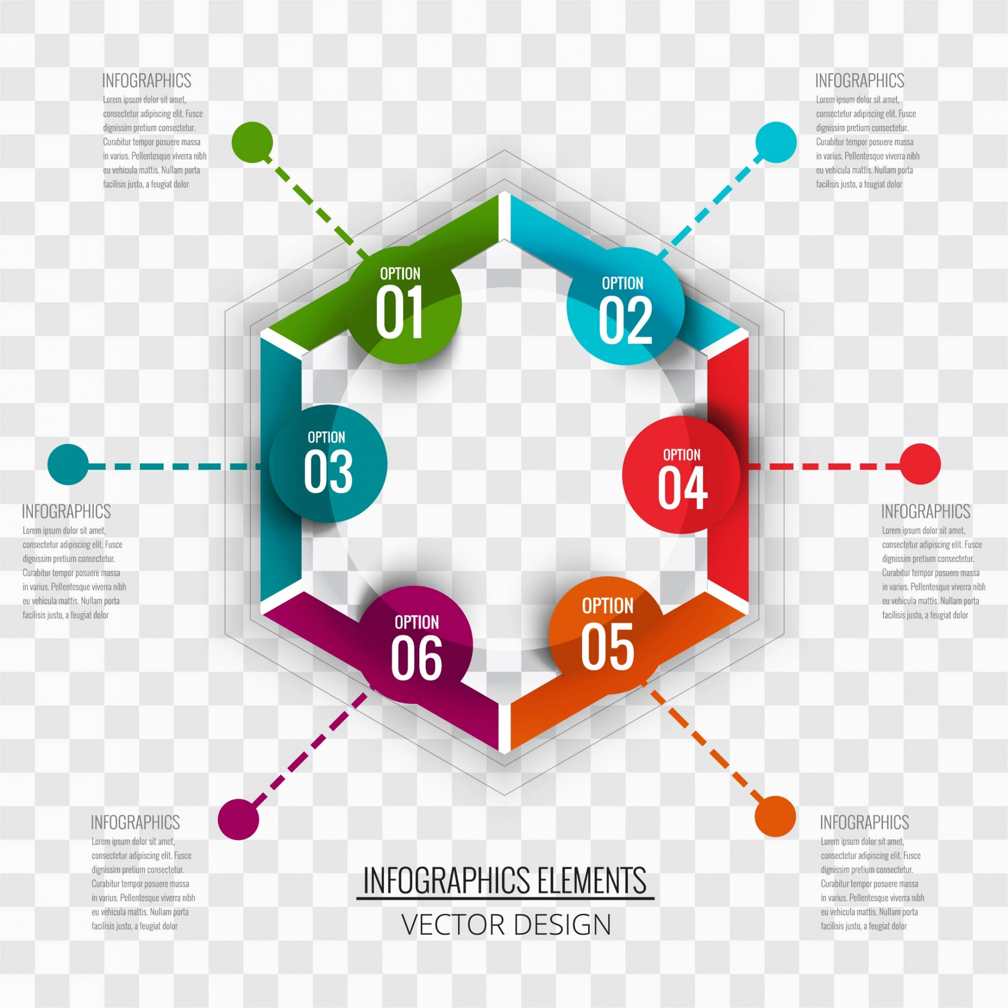 Hexagonal infographics