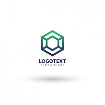 Hexagonal Logo Template