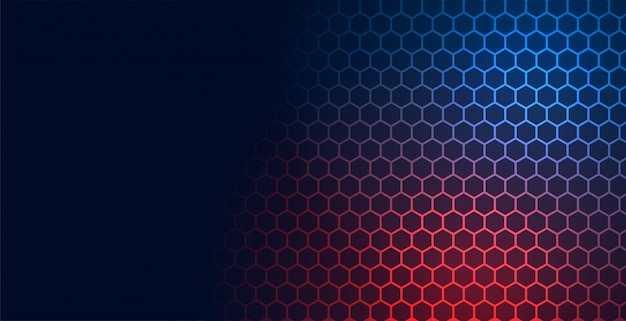 Hexagonal technology pattern mesh background with text space