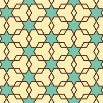 Hexagons and Star texture Seamless geometric pattern