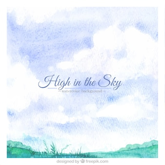 High in the sky background