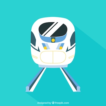 High speed train in flat design