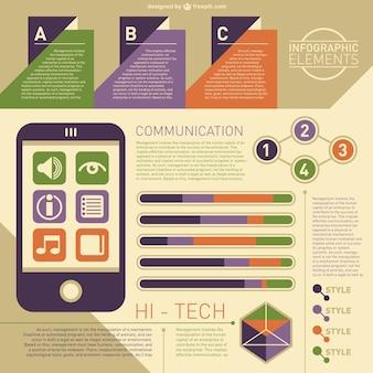 High tech infographic