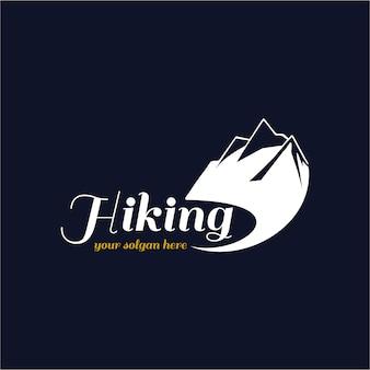 ハイキングロゴの背景