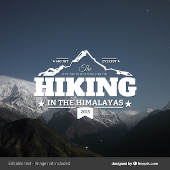 Hiking vintage logo