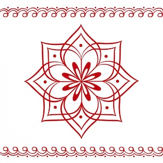 Hindu Floral Ornament