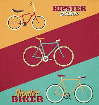 Hipster bicycles background