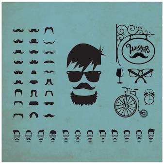 Hipster elements design